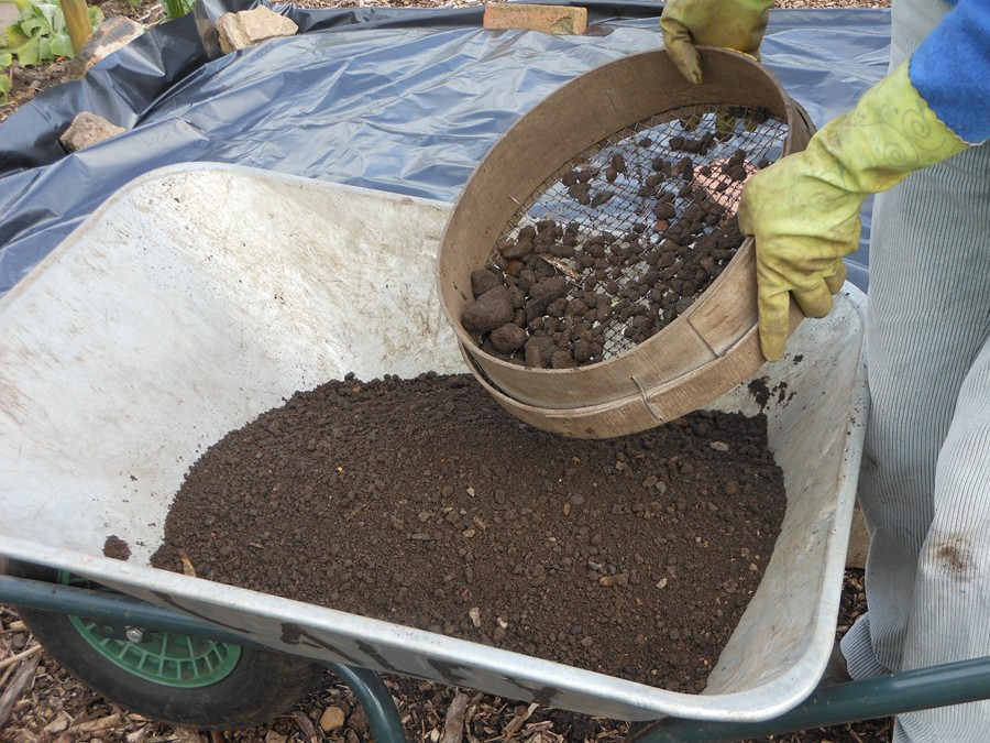 Seiving the the soil