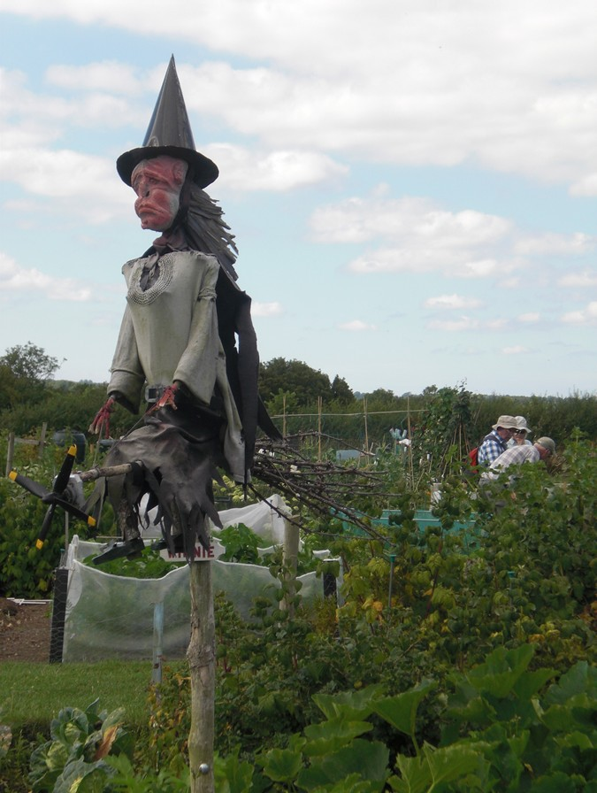 Scarecrow at Lytes Manor Allotments