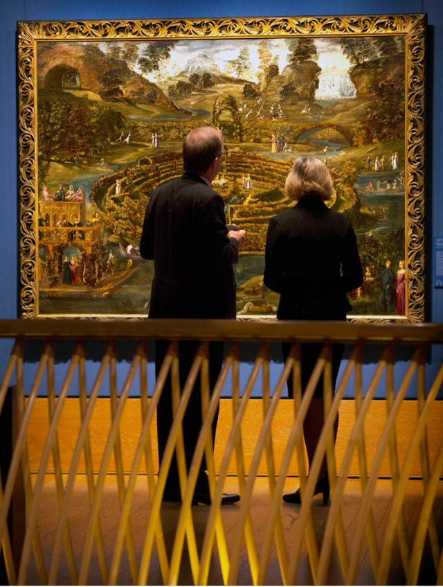 Exhibition celebrating the garden in works of art at the Palace of Holyrood House,Edinburgh.05,08.2016.Photograph David Cheskin Royal Collection Trus .04.08.2016