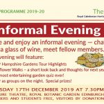 Caley Informal Evening – December 17th